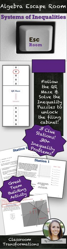 Love this!!!! Systems of inequalities - maze puzzle | Math ...