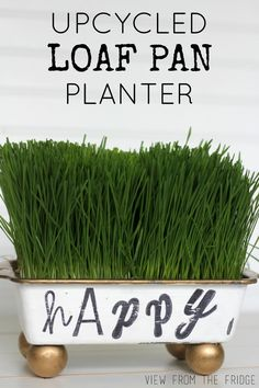 Shabby Chic Upcycled Bread Loaf Pan to Planter!
