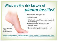 Plantar Fasciitis | Learn about the risk factors and steps you can take to help prevent more damage to your feet.