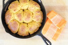 Chipotle Sweet Potato Skillet Biscuits