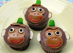 http://family.go.com/food/recipe-601550-abu-cupcakes-t/  Abu cupcakes  If you take the top off these are good jungle book, Tarzan and circle of life lion king cupcakes too