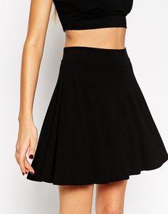 Enlarge ASOS Circle Skater Skirt in Jersey