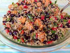 Sweet Potato and Black Bean Quinoa Salad