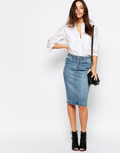 a denim skirt is a key piece in any spring wardrobe! check out my top 5 faves on jojotastic.com