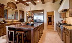 santa fe kitchen with large island