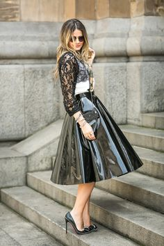 .Topshop  Vinyl Skirt....sold out
