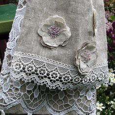 Linen scarf - detail | by Roxy Creations