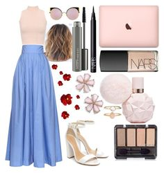 """Untitled #809"" by maria-gutierrez-perez ❤ liked on Polyvore featuring Rosie Assoulin, WearAll, Schutz, NARS Cosmetics, MAC Cosmetics, Accessorize and Fendi"