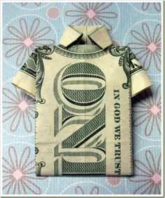 money oragami! This is such a fun way to give $ I still have one from yrs ago!!