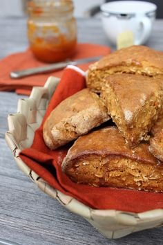 Sweet potato scones. Change white flour and oat for millet flour and millet flakes.