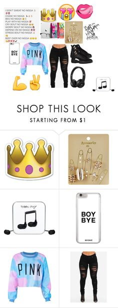"""""""new me"""" by panther-bear ❤ liked on Polyvore featuring Accessorize and Happy Plugs"""