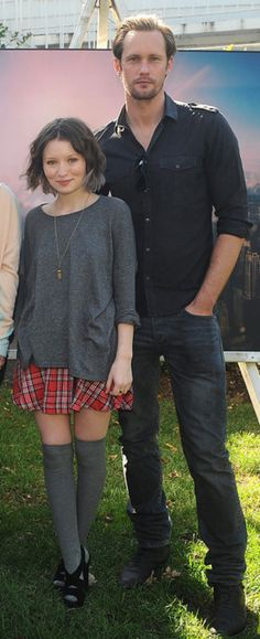 Alexander Skarsgard and Emily Browning~Why does everyone look like a Hobbit next to this man?