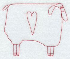 (^_^)  Countrytime sheep 2 - Machine Embroidery Designs at Embroidery Library! - New This Week