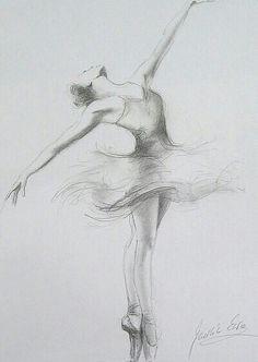 Bailarina a lápiz. Dibujo                                                                                                                                                                                 Más
