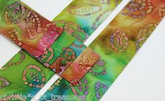 """10 Strips 2.5"""" BATIK BEACH Quilting Fabric QUILT Jelly Roll Quilter"""