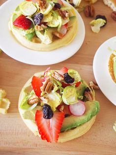 Waffle and Pancake Avocado Toast - a fun breakfast or light dinner recipe full of fruit and vegetables!