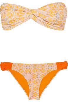 Matthew Williamson mosiac-print bandeau bikini $325