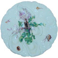 Antique French Haviland Limoges Oyster Plate, 1880