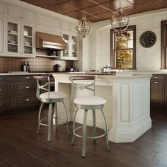 Have to have it. Amisco Bourbon Swivel Counter Stool 26 in. - $299.99 @hayneedle.com