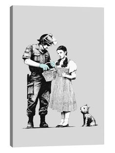Dorothy Police Search by Banksy (Canvas) from Mobile First Look: Banksy on Gilt