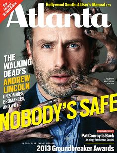Andrew Lincoln on the cover of Atlanta Magazine