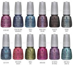 China Glaze - Hologlam Collection (les 3 suivants : When Stars Collide • Galactic Gray • Infra-red)
