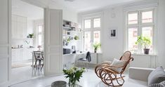 A serene white and grey Swedish apartment An eye-watering start today with a train ride to the IKEA headquarters to view all their new products - always so exciting despite the red-eye train!... swedish apartment Check more at http://rusticnordic.com/a-serene-white-and-grey-swedish-apartment/