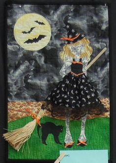 Witchy Woman mini quilt by Linda Pawlowicz (Diablo Valley Quilters).  Photo by Quilt Inspiration.