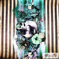 I'm back with another layout using the Dazzle in the Darkness kit by You can check out how I made it in the video linked… Video Link, Darkness, Mixed Media, Scrapbooking, Layout, Kit, Check, How To Make, Crafts