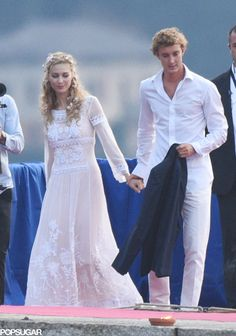"""One week after getting married in a civil ceremony at Monaco's Pink Palace, Pierre Casiraghi and Beatrice Borromeo said, """"I do,"""" for a second time in Italy on Saturday."""