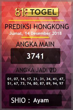 Prediksi jitu togel hongkong hari Jumat, 14 Desember 2018. #togelhariini #prediksitogelHK #togelHK #bocorantogel #bocorantogelHK #BOaman #BOterpercaya