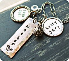 Hand Stamped Necklace  Hand Stamped Jewelry  by yourcharmedlife, $55.00