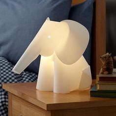 Kids' Nightlights: Elephant Lamp Nightlight - get a fun lamp or nightlight with a super low light bulb for night time feeding