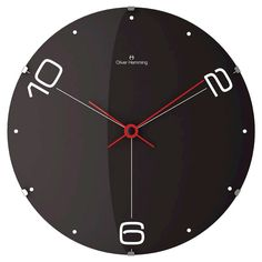 Oliver Hemming Wall Clock with Dot and Number Dial - Black (14½)