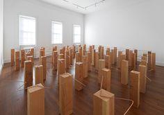 Multiple Latencies in Formation. Mono Ha, Contemporary Sculpture, Contemporary Art, Artistic Installation, Wood And Metal, Sculpture Art, Sculptures, Street Art, Chandelier