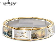 Thomas Kinkade Hope Lights The Way Italian Charm Bracelet With Swarovski® Crystals by The Bradford Exchange on shopstyle.com