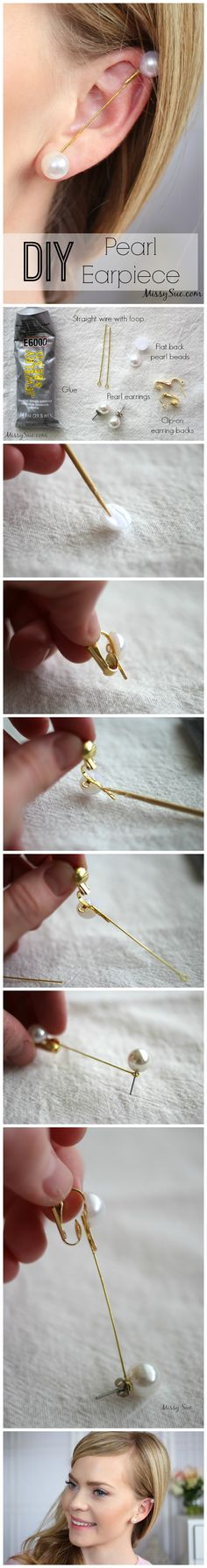 #Diy #Pearl #Earpiece #Tutorial