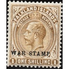 Falkland Islands, KG V, War Stamp, 1 penny, 1912 unmounted Mint
