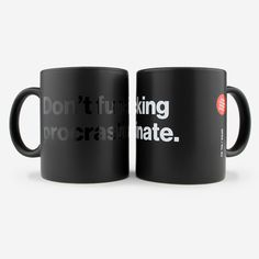 Don't Fu*king Procrasinate coffee mug : 2color (b/w)