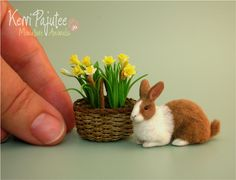 Miniature Dutch Rabbit Sculpture by Pajutee.deviantart.com on @deviantART