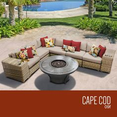 Cape Cod 9 Piece Sectional Set with Cushions