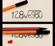 I love you= 128ve980