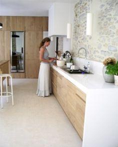 Mediterranean homes – Mediterranean Home Decor Home Decor Kitchen, Kitchen Interior, New Kitchen, Home Kitchens, Concrete Kitchen, Stone Kitchen, Mediterranean Home Decor, Modern Kitchen Design, Kitchen Remodel