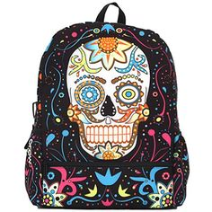 """""""Day of the Dead"""" Bag by Mojo Backpacks #InkedShop #backpack #bag #skull #diadelosmuertos #dayofthedead #style #fashion #accessories"""