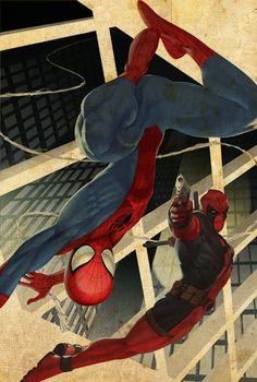 Spiderman/Deadpool My favorite marvel characters ! Comic Book Characters, Marvel Characters, Comic Character, Comic Books Art, Comic Art, Epic Characters, Dead Pool, Marvel Dc Comics, Marvel Heroes