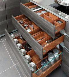 perfect organization! | #kitchenstorage #kitchenorganization