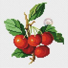VK is the largest European social network with more than 100 million active users. Cross Stitch Fruit, Cross Stitch Heart, Cross Stitch Flowers, Cross Stitch Kitchen, Cross Stitching, Cross Stitch Embroidery, Hand Embroidery, Cross Stitch Designs, Cross Stitch Patterns