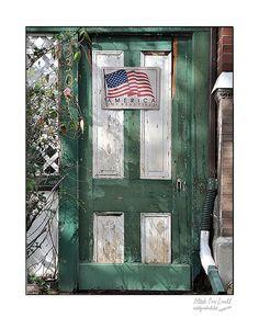 Fine Art print of rustic doorway with American by picspicspics, $20.00