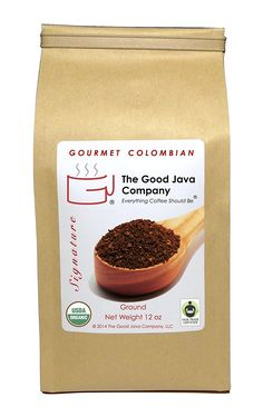 The Good Java Company - Gourmet USDA Organic Fair Trade Colombian Small Batch Roasted Coffee (Ground) Net Weight 12oz *** Want to know more, click on the image. (This is an affiliate link and I receive a commission for the sales)