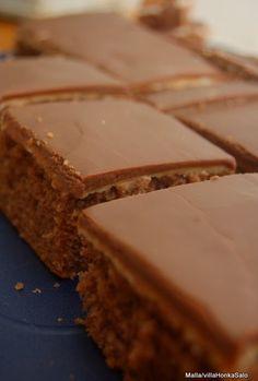 Netin ihimeellisestä maailmasta löyty ihana herkullinen kinderpiirakan ohoje. Vähän vaihtelua tavalliseen suklaapiirakkaan.  Pohojana käyti...
